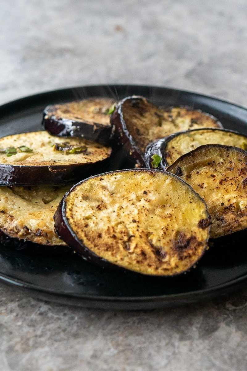 pan seared eggplant