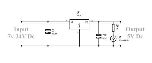 small resolution of fig regulator lm7805 circuit diagram