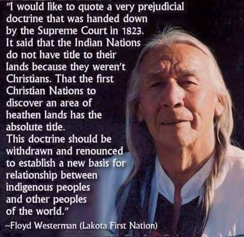 """I would like to quote a very prejudicial doctrine that was handed down by the supreme Court in 1823.