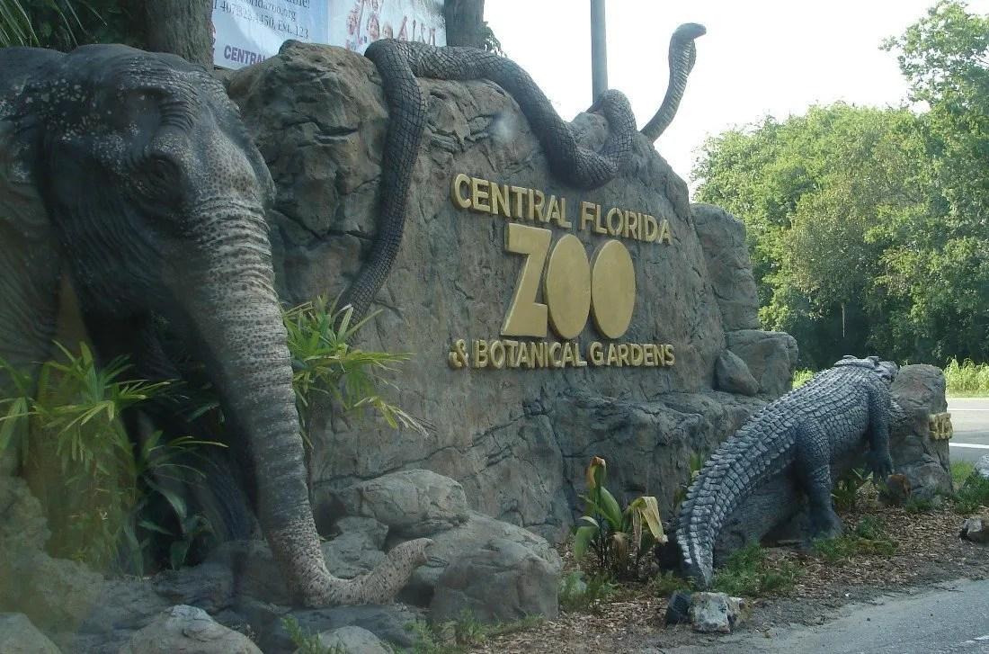 Central Florida Zoo Entrance