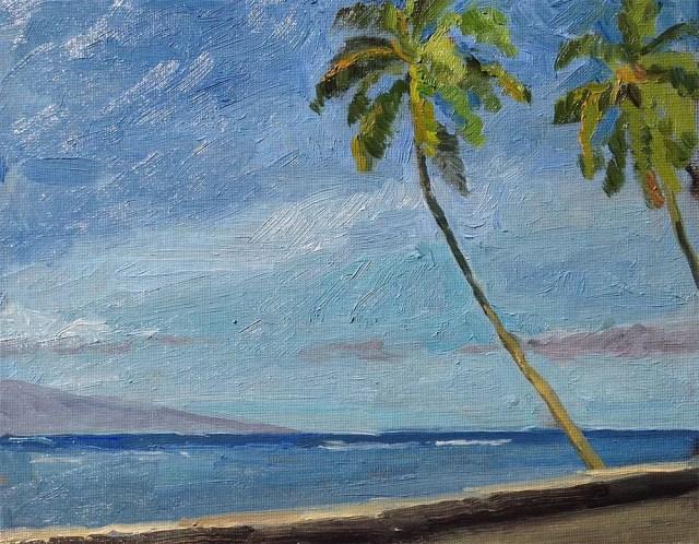 1000 days of art: beach painting