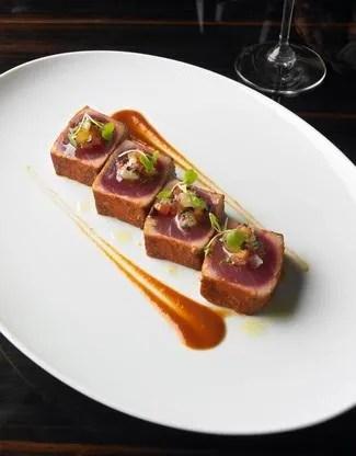 not the actual ahi tuna dish