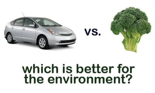 Do One Green Thing: prius vs broccoli