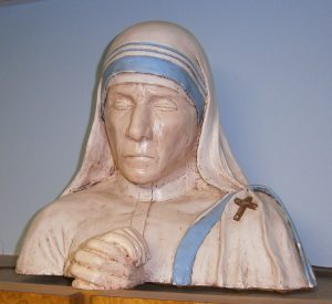 Bust of Mother Theresa. Sculptor: Dr. Frank Jerome, Columbus, Indiana