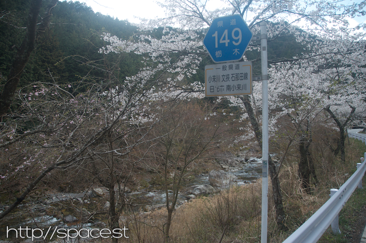a famous road, 2km of cherry trees line it and the hostel is on it.