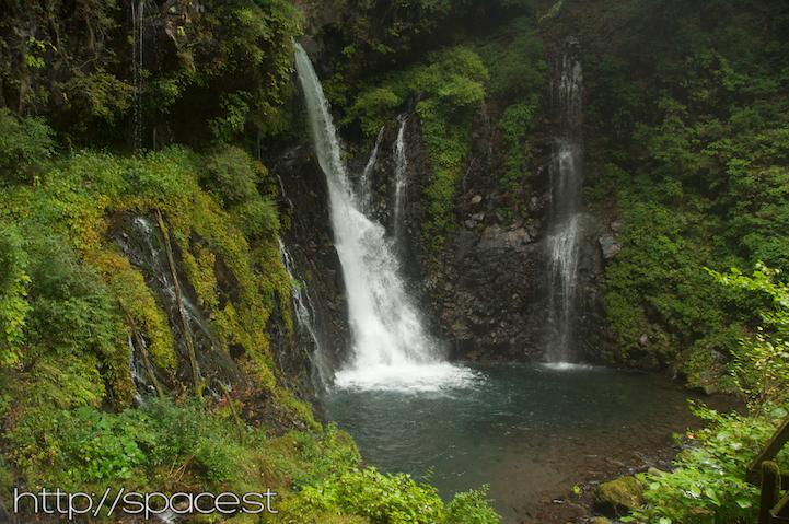 the pool at the base of Urami waterfall