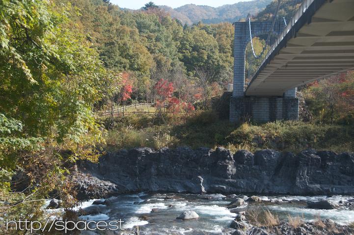 Under Dainichi Bridge at Daiya River