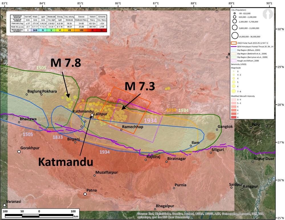 medium resolution of large aftershock in nepal 2nd update