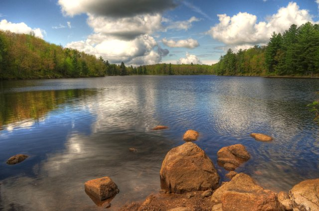 Middle Branch Lake in Adirondack Park