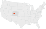 Location map of Sunset Roadless Area in Colorado.