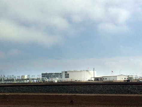 The newly opened Bakersfield Crude Terminal in Taft which the EPA has found in violation of the Clean Air Act.