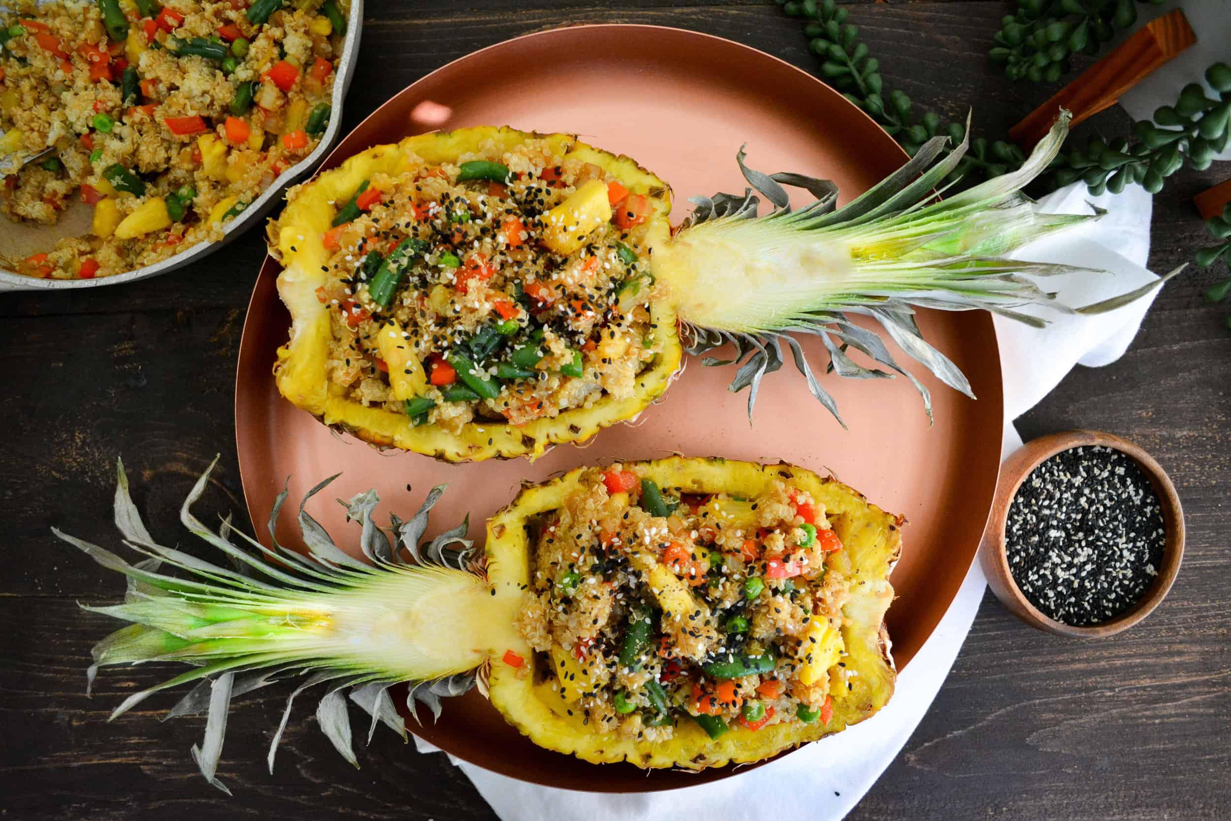 Pineapple Teriyaki Fried Quinoa