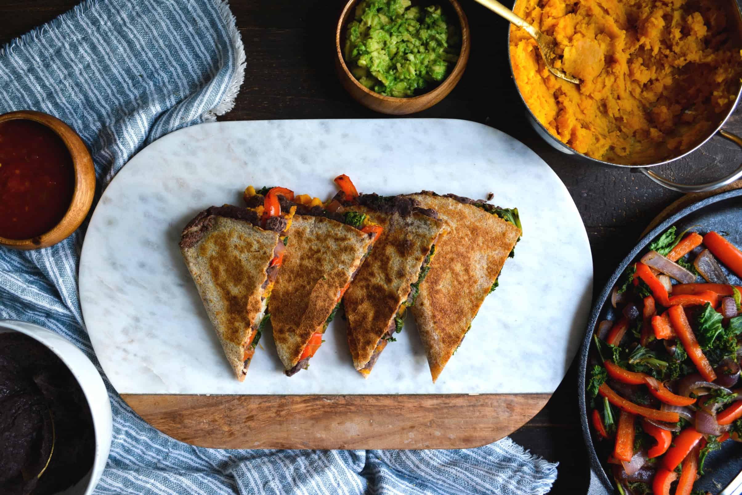 Sweet Potato + Black Bean Quesadillas