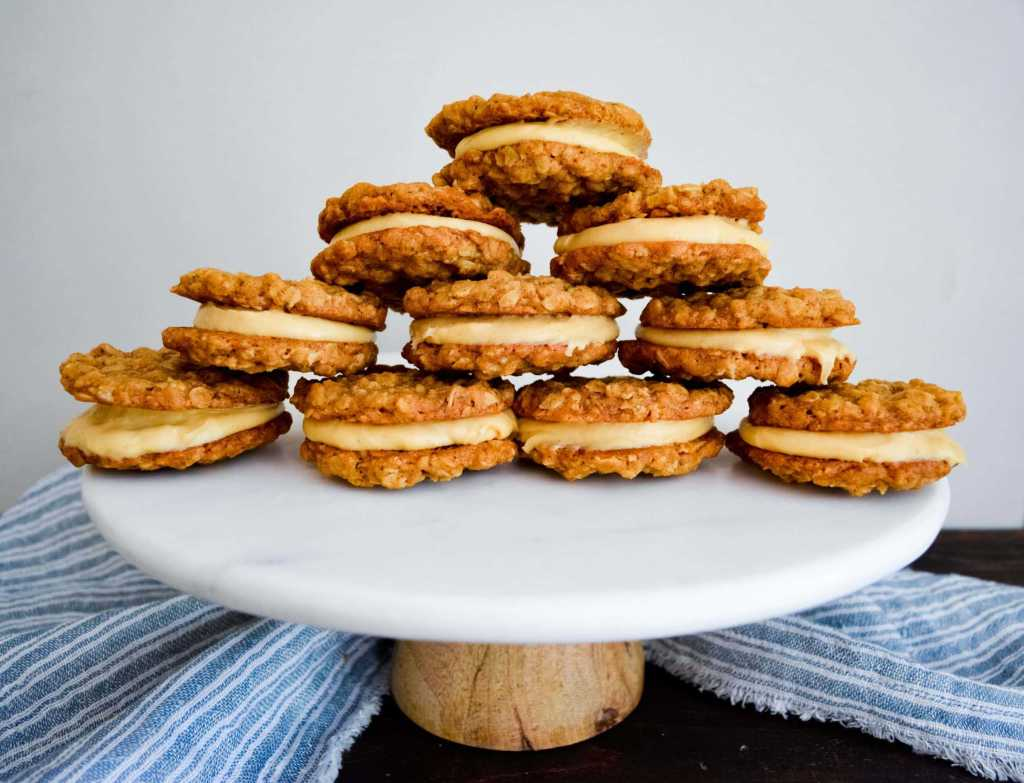 Stack of oatmeal cream pies