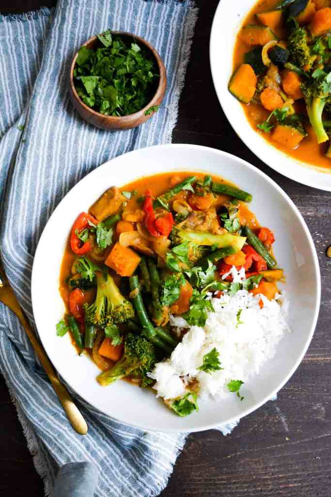 Kabocha red curry with rice