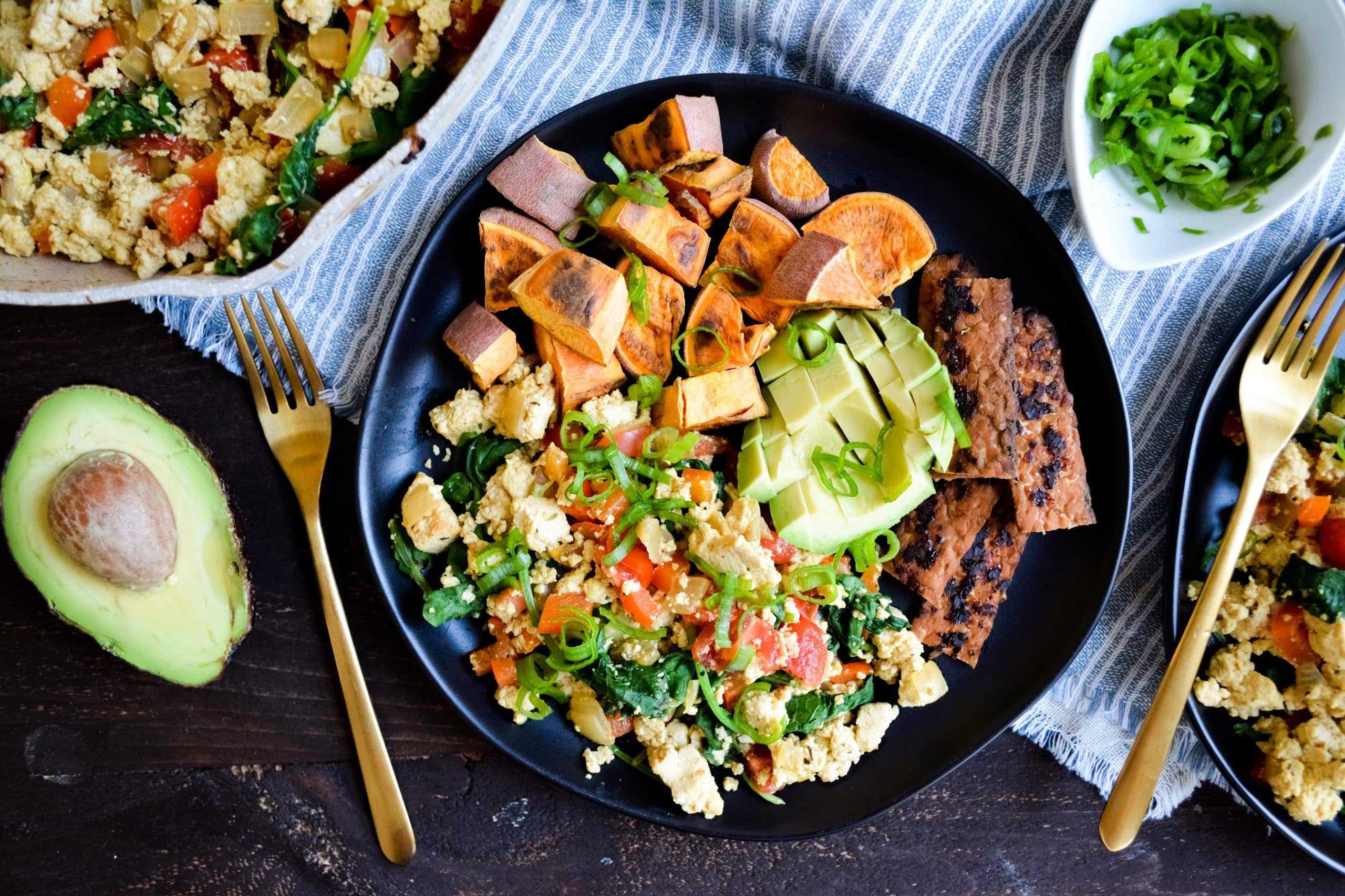 Easy Tofu + Veggie Scramble