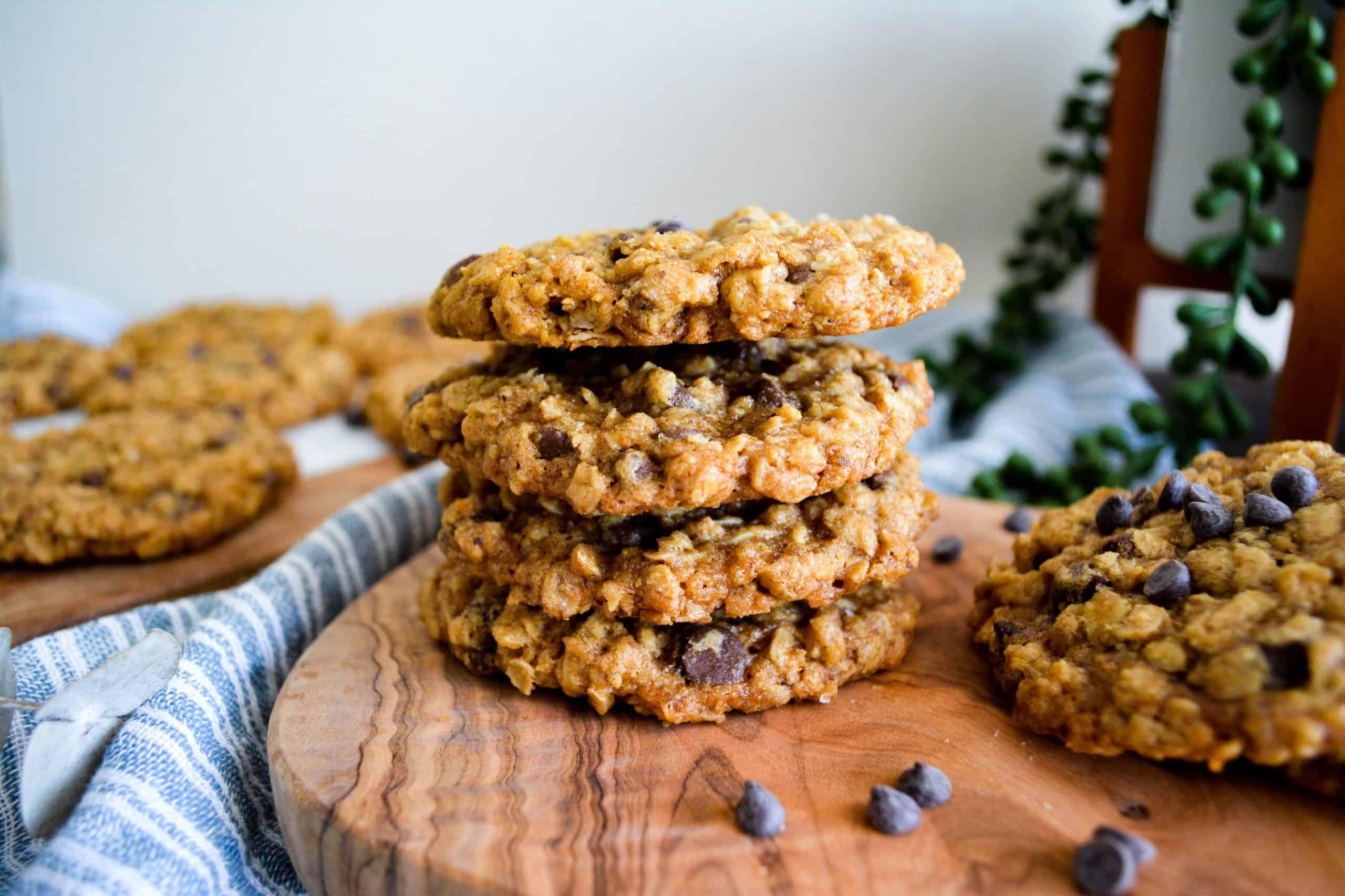 Gluten Free Oatmeal Chip Cookies