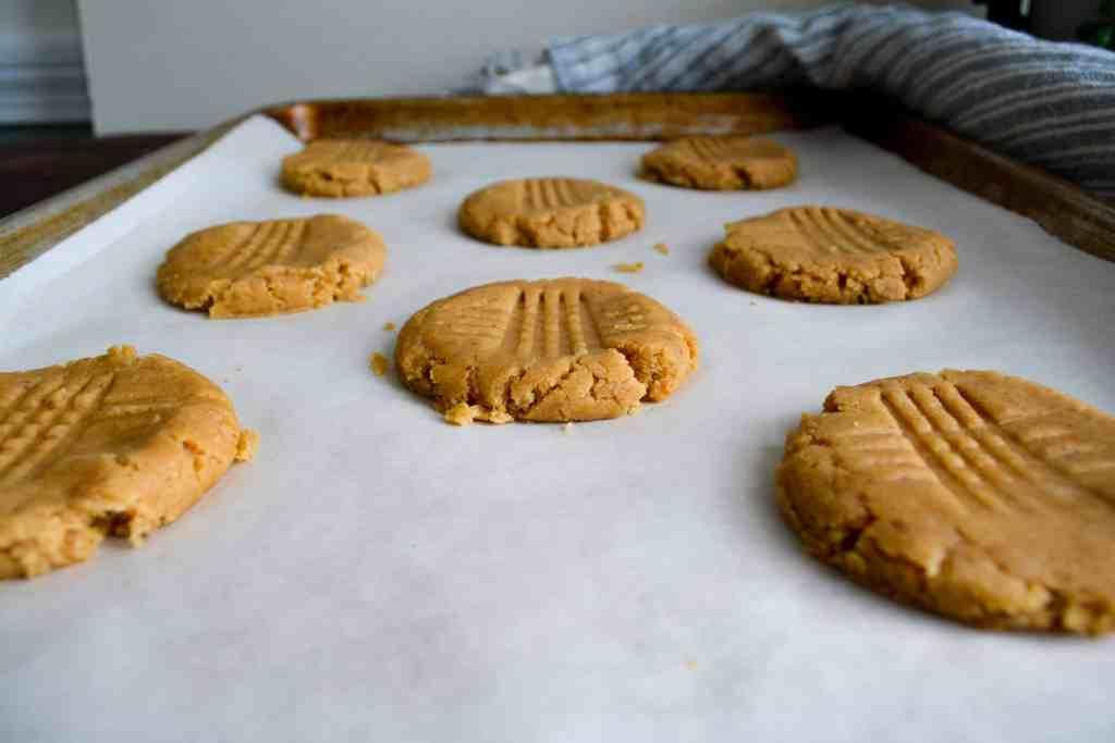 Pressed Peanut Butter Cookies