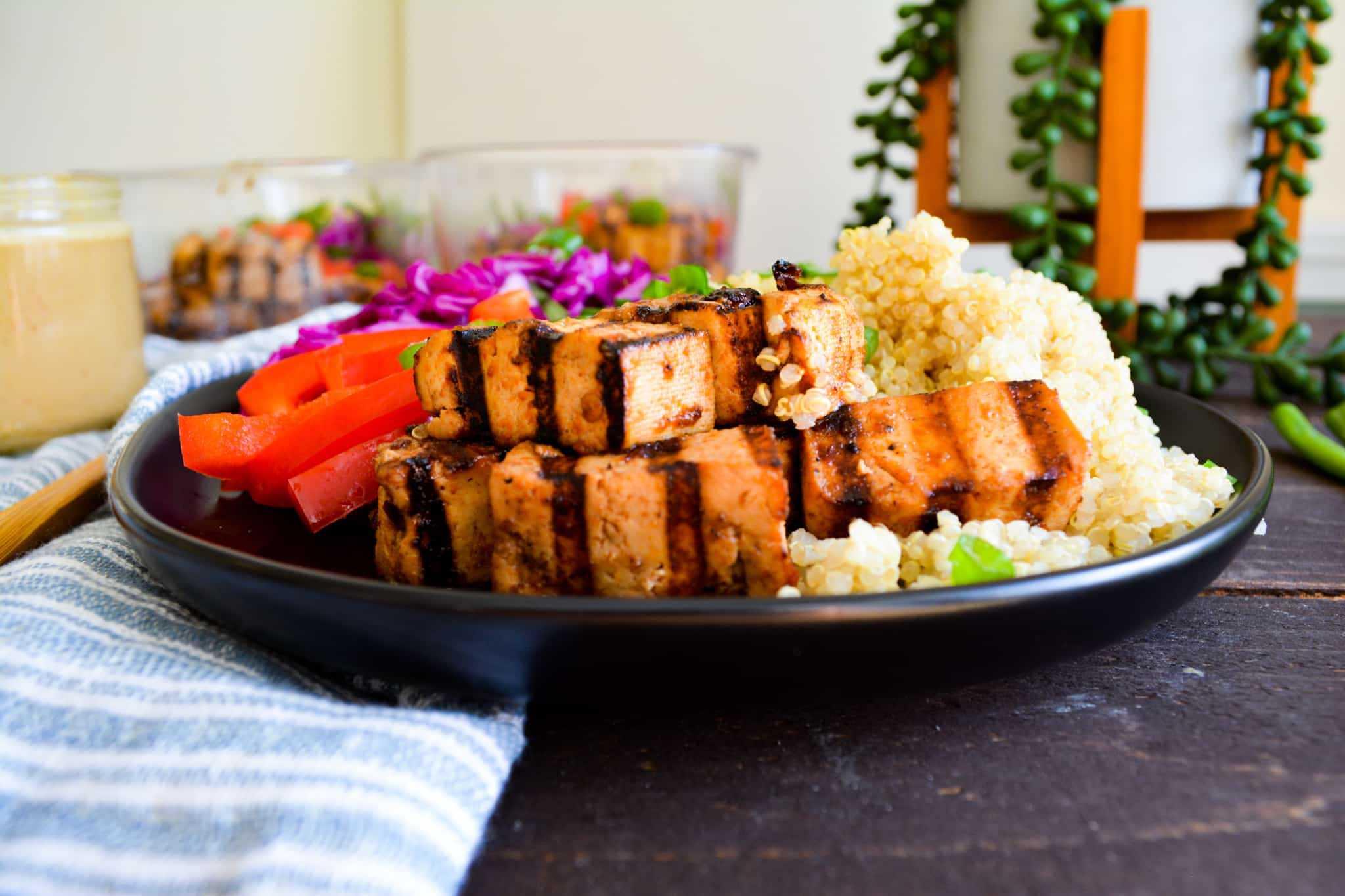 Chili + Garlic Grilled Tofu
