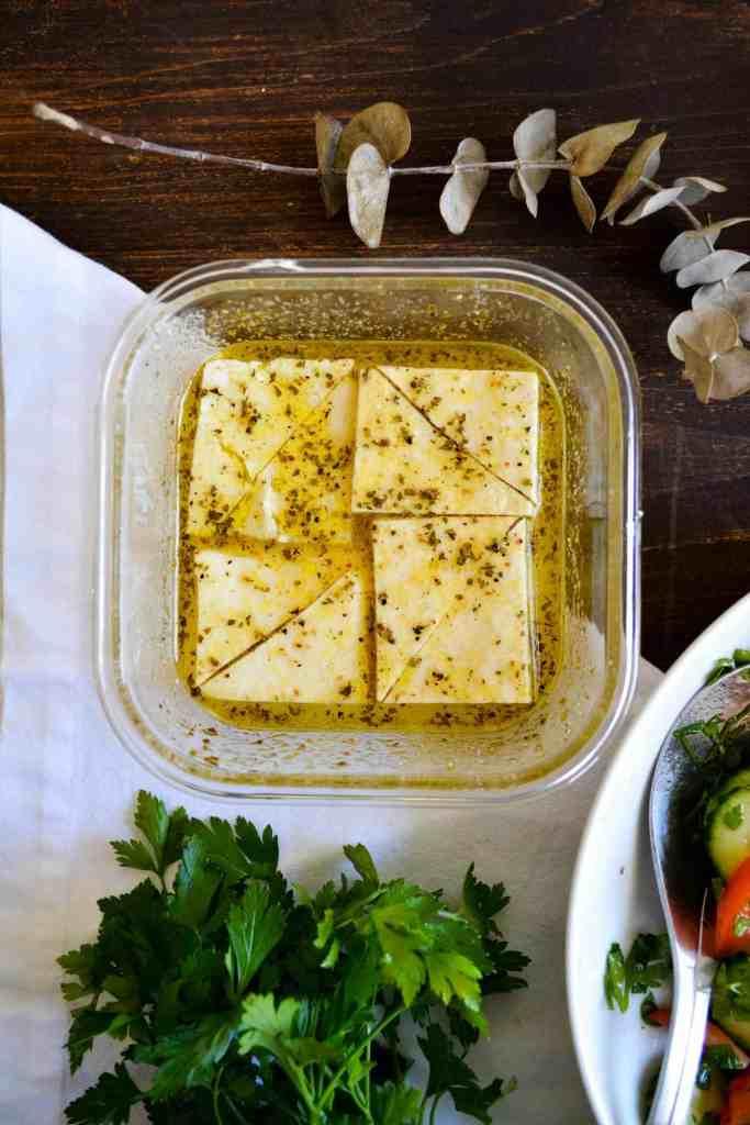 Marinated Tofu Feta