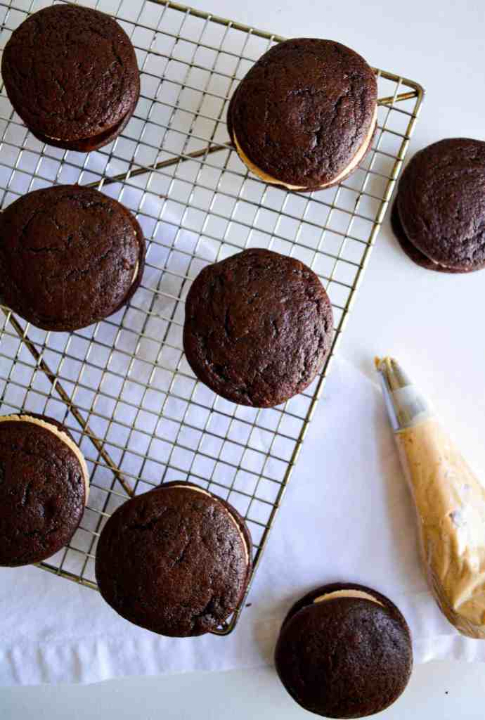 Filled chocolate whoopie pies