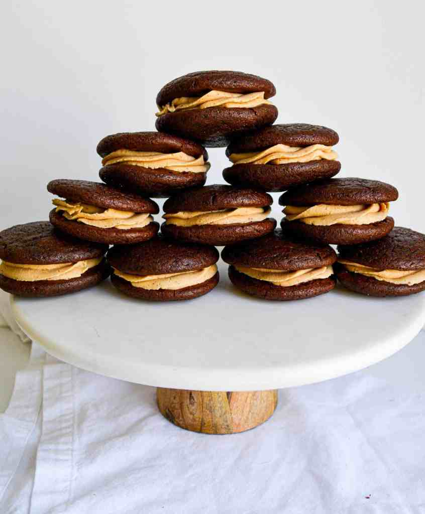 Pyramid of One-Bowl Chocolate Whoopie Pies