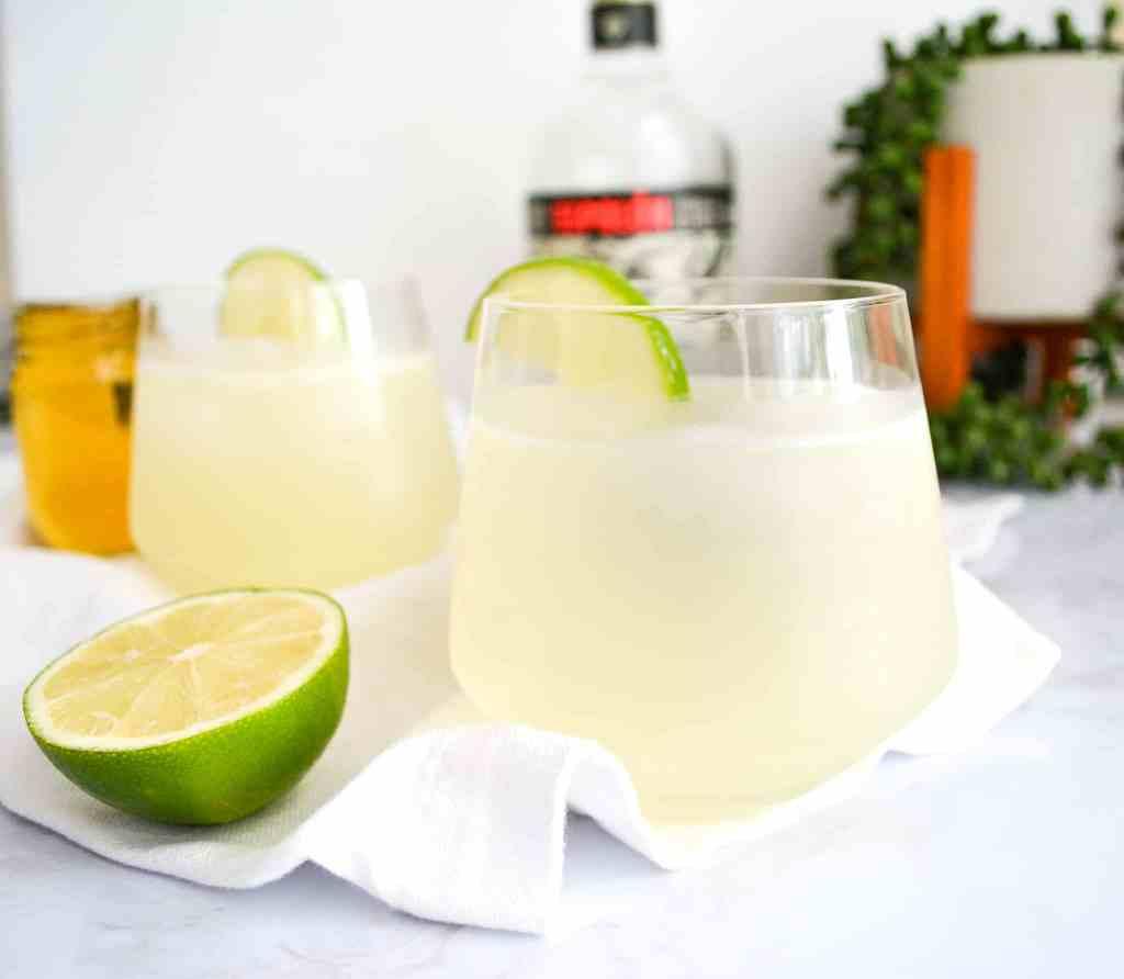 Close up of a Light + Refreshing Margarita