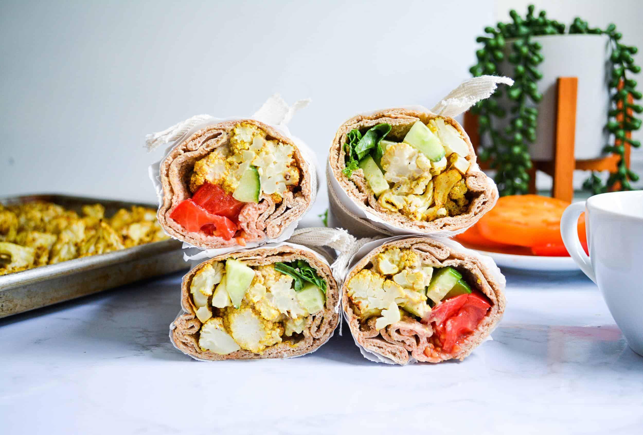 Easy Roasted Moroccan Cauliflower Roll-Ups