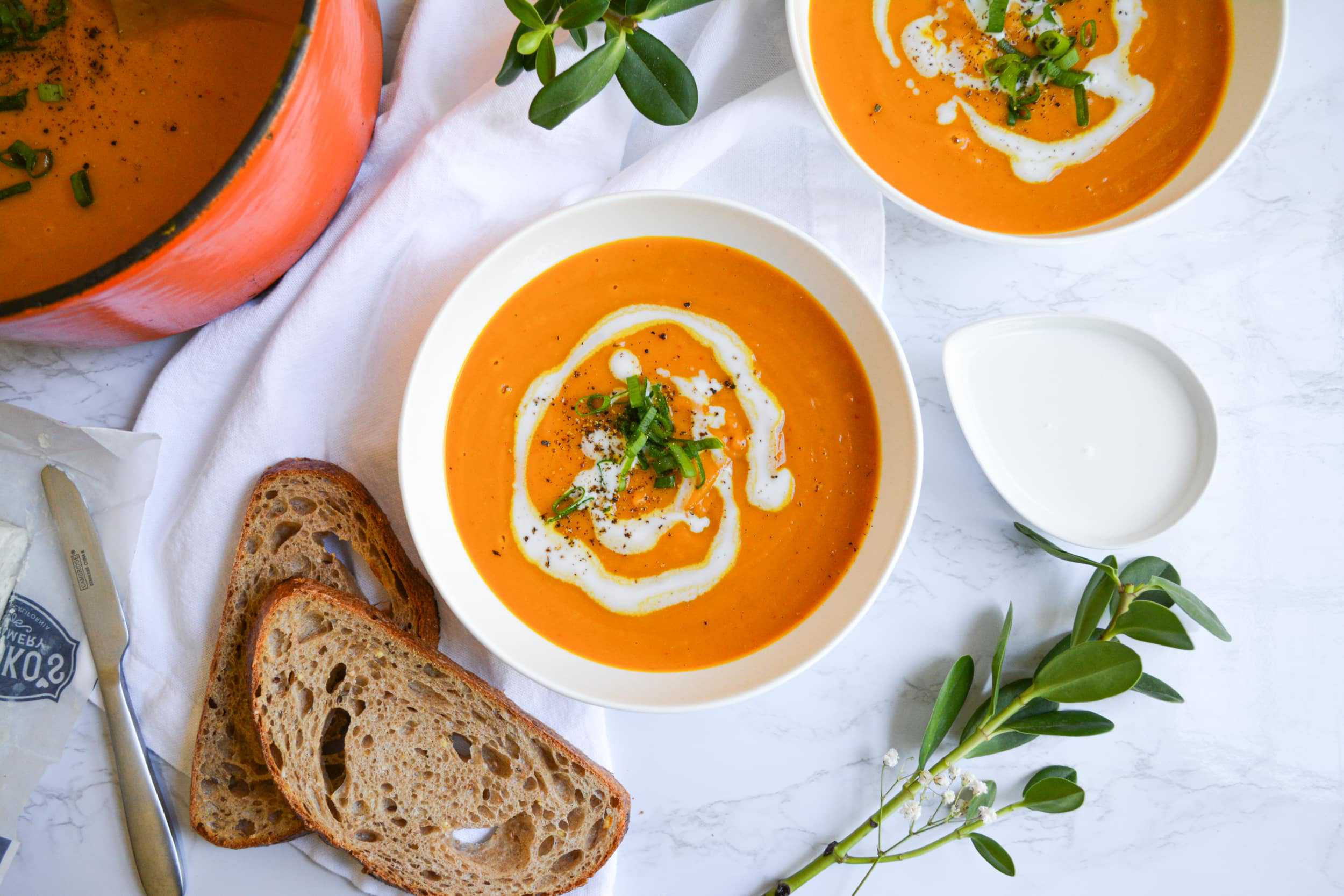 Red Curry Winter Squash Bisque