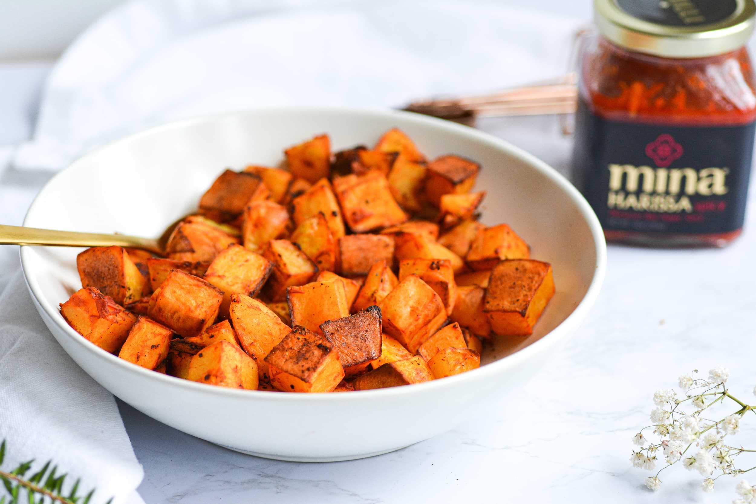Crispy Harissa Roasted Potatoes