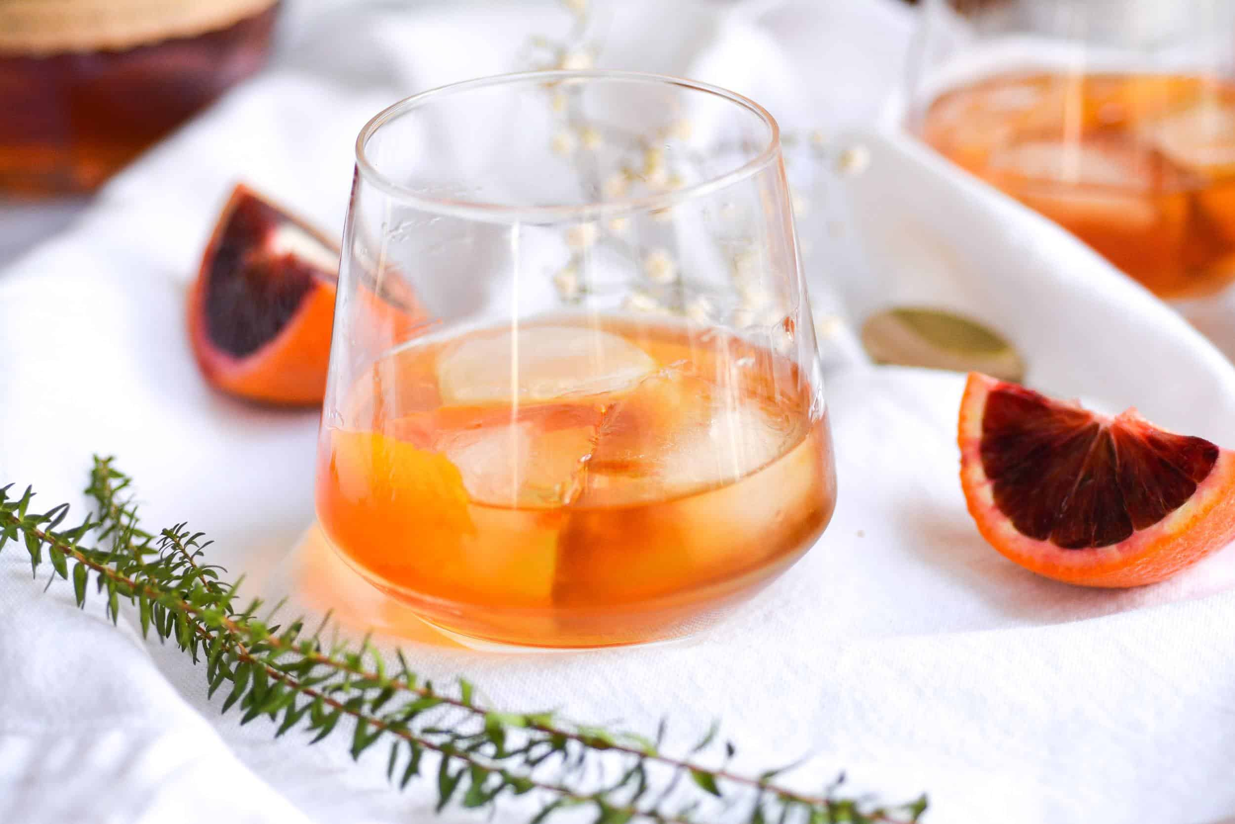5-Minute Maple Bourbon Old Fashioned