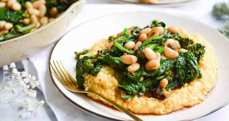 Polenta with Broccoli Rabe and White Beans