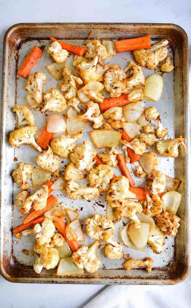 Sheetpan of roasted vegetables