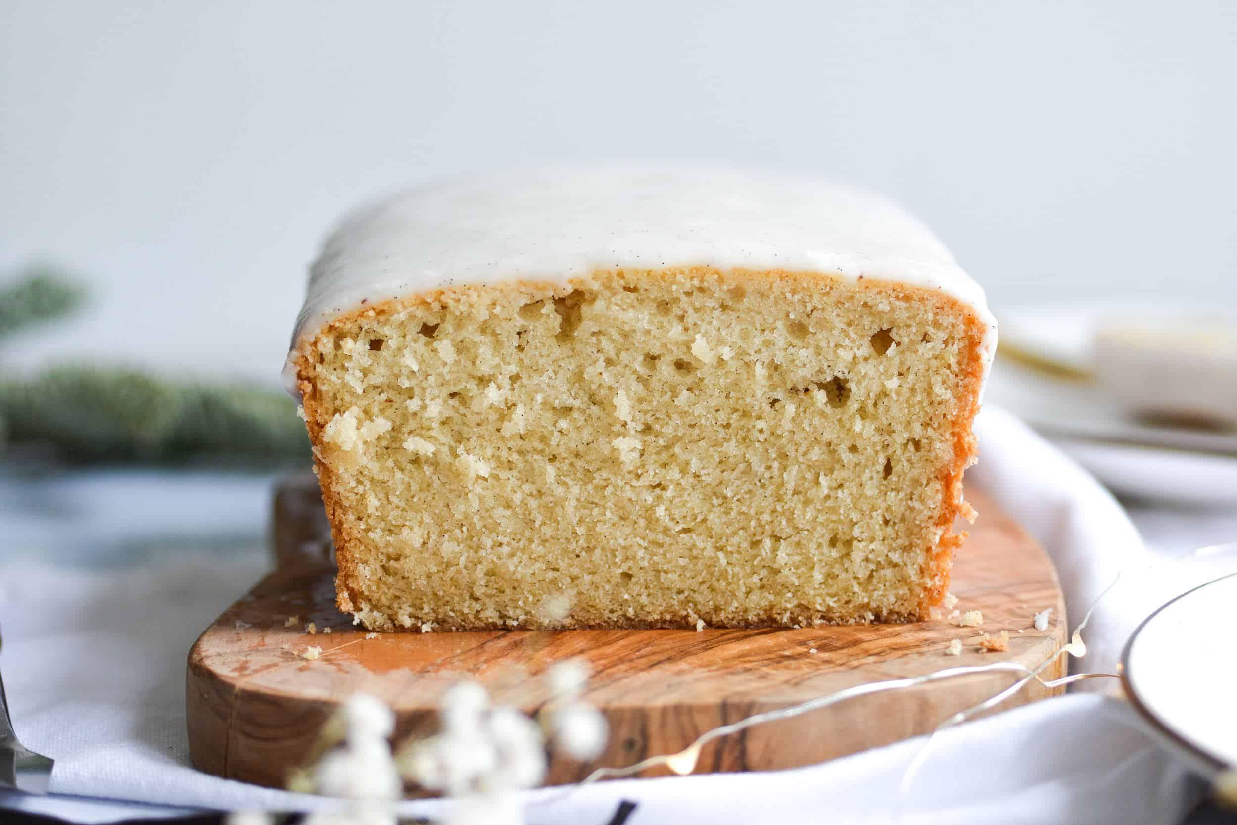 Iced Vanilla Bean Pound Cake