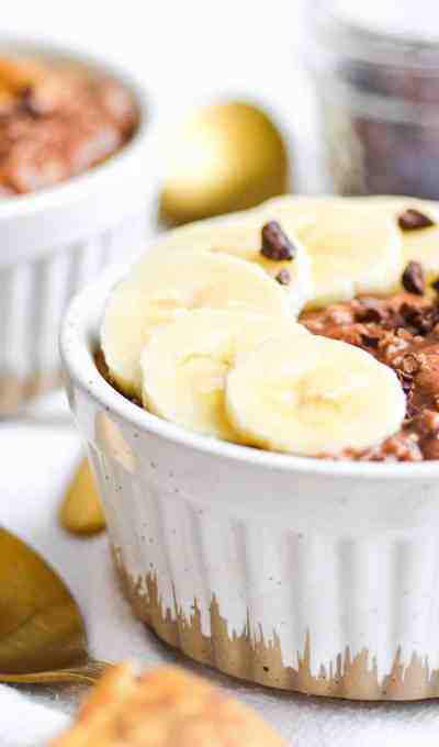Overnight Oats with Banana and Chocolate