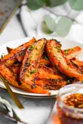 sweet potato wedges on a plate