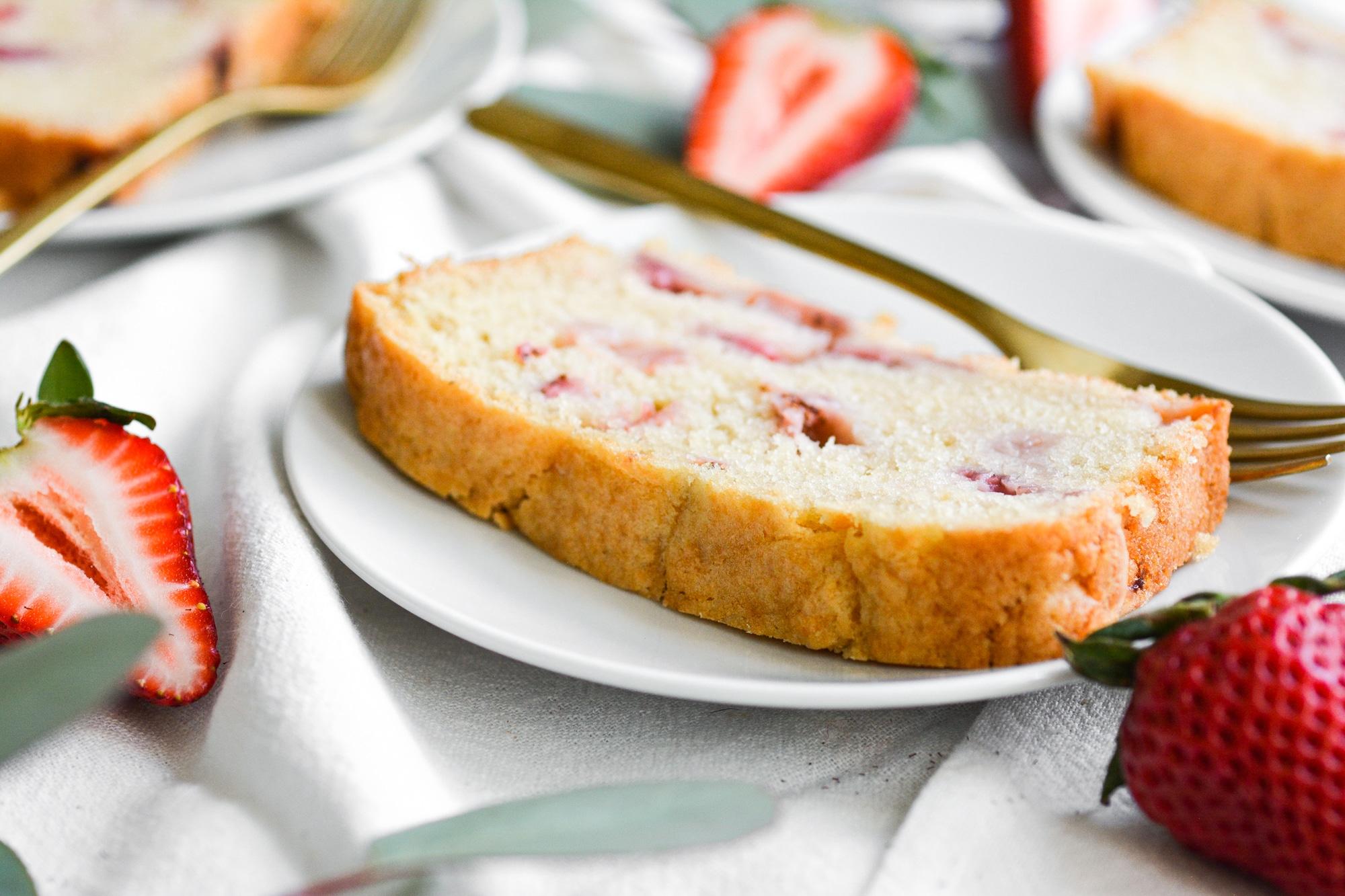 Vegan Strawberry Pound Cake