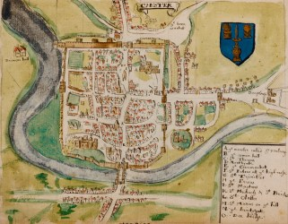 medieval maps chester cities map amazing fantasy town reading mission wall towns county cheshire earthly extensive budapest century midieval entertainment