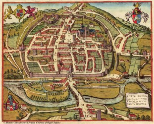 medieval maps exeter map england cities 1617 hogenberg town amazing village manor century tudor braun west south 16th facts devon