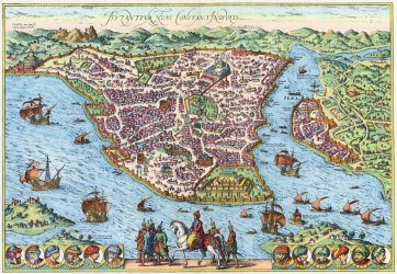 medieval map constantinople maps istanbul ottoman cities amazing empire period 1500 turkey 1035 tourist mehmed conqueror byzantine imgur 1453 earthlymission