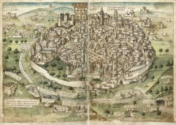 medieval cities maps jerusalem hamburg amazing