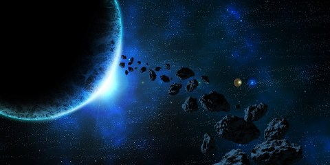 Asteroids orbiting a planet