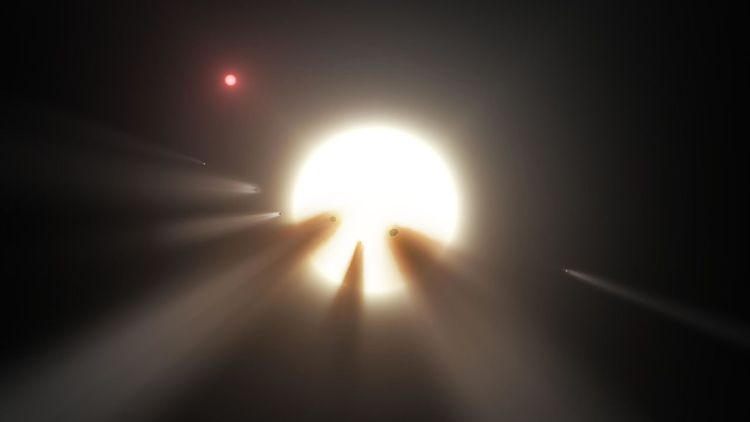 Tabby's Star Comet Swarm