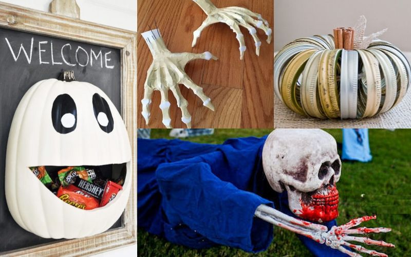 51 Cheap Easy Diy Outdoor Halloween Decoration Ideas To Try This Year Earth Macros