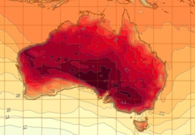 This totally real map makes it look like Australia is on fire, and it kinda is