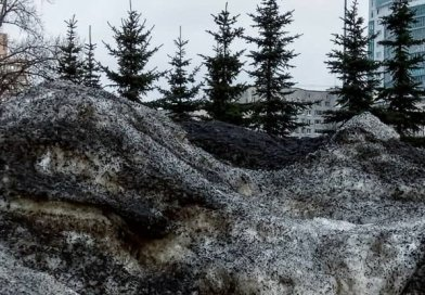Disturbingly black snow has blanketed several towns in Siberia