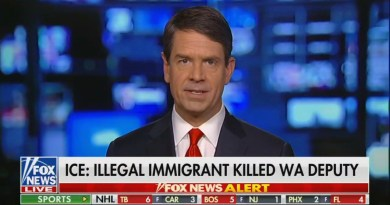Fox Highlights Cop Murdered by Illegal Immigrant, Other Nets Ignore