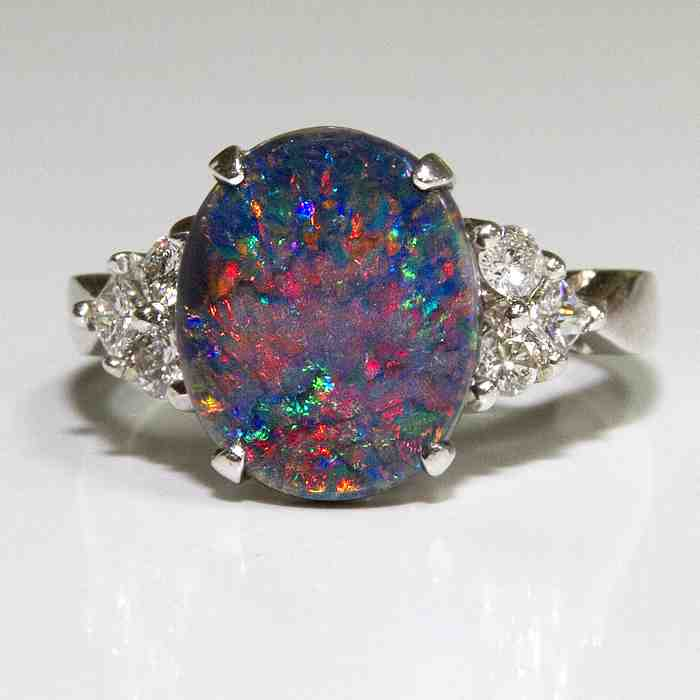 Black Opal Engagement Rings  Wedding And Bridal Inspiration