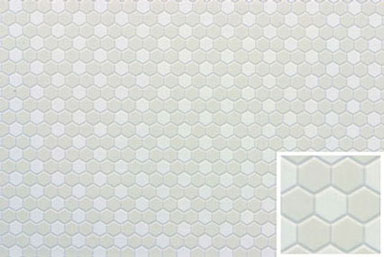 Hexagon Tile : Miniature Dollhouses & Doll House Supplies