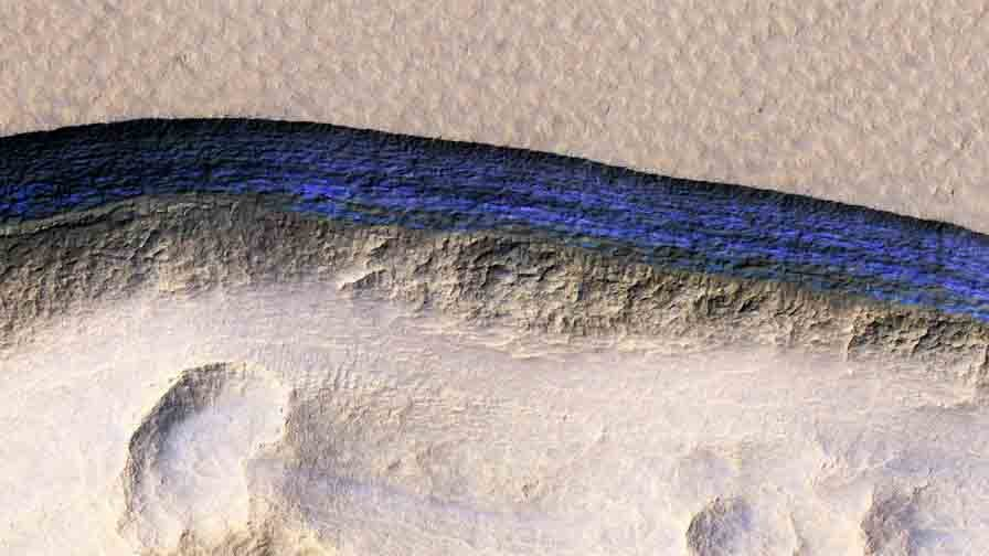 ice deposits on Mars